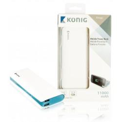 Konig 11000mAh powerbank voor o.a. tablet en smartphone (wit)